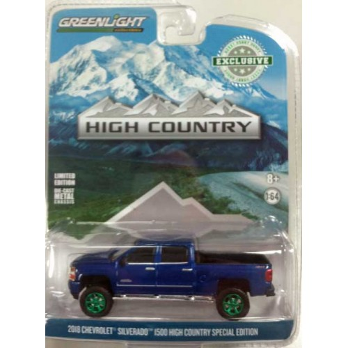 Greenlight Hobby Exclusive - 2018 Chevy Silverado High Country Special Green Machine