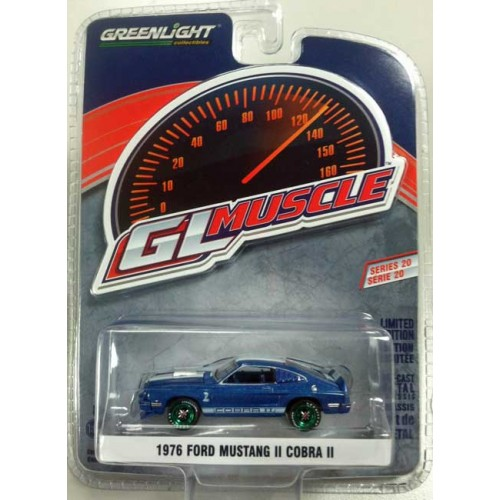 Greenlight Muscle Series 20 - 1976 Ford Mustang II Cobra II Green Machine