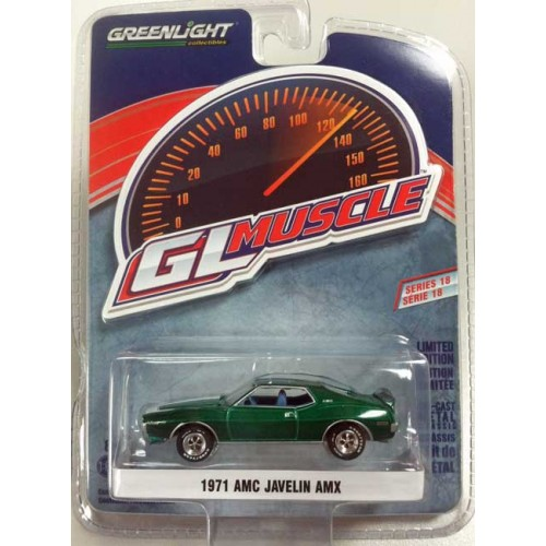 Greenlight Muscle Series 18 - 1971 AMC Javelin AMX Green Machine