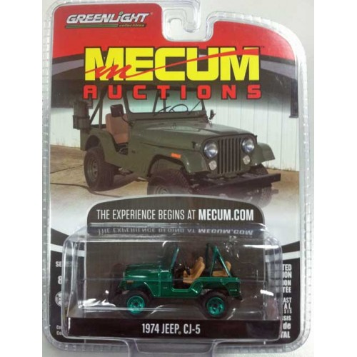 Greenlight Mecum Auctions Series 2 - 1974 Jeep CJ-5 Green Machine