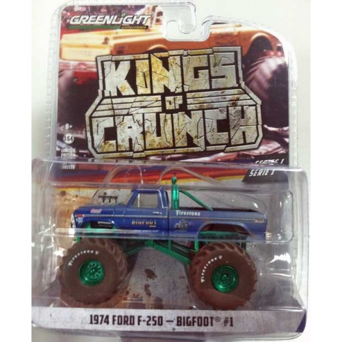 Greenlight Kings of Crunch Series 1 - 1974 Ford F-250 Bigfoot Green Machine