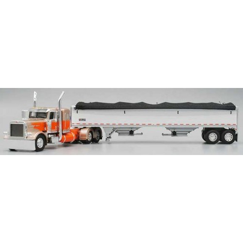 DCP Peterbilt 389 with Pacesetter Hopper Bottom Grain Trailer