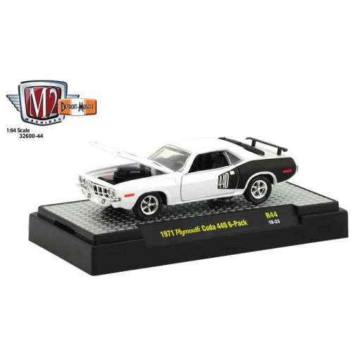 M2 Machines Detroit Muscle Release 44 - 1971 Plymouth Cuda 440 6-Pack