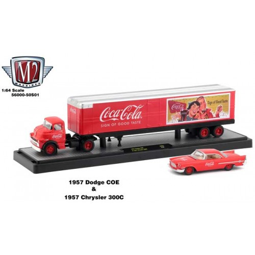 M2 Machines Coca-Cola Haulers - 1957 Dodge COE and 1957 Chrylers 300C