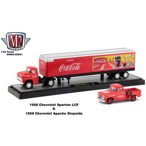 M2 Machines Coca-Cola Haulers - 1958 Chevy Spartan LCF and 1958 Chevy Apache