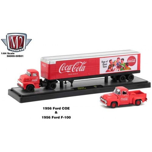 M2 Machines Coca-Cola Haulers - 1956 Ford COE and 1956 Ford F-100