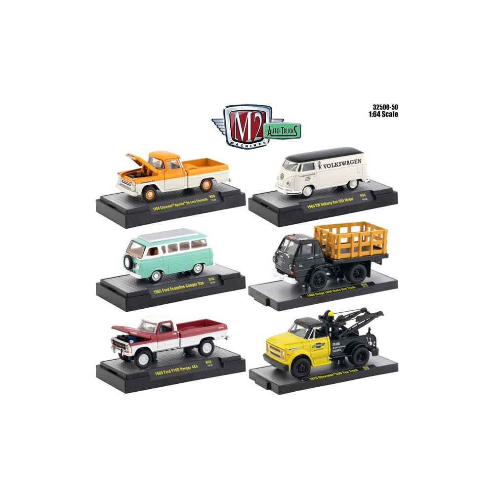 M2 Machines Auto-Trucks Release 50 - Six Truck Set