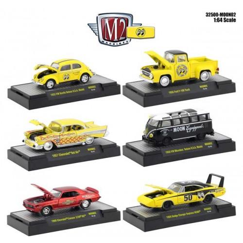 M2 Machines Mooneyes Release 2 - Six Car Set
