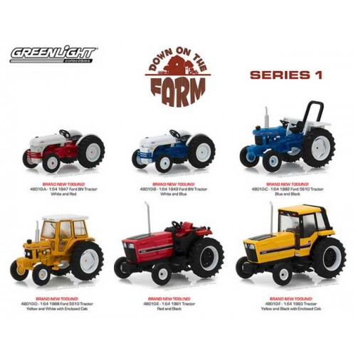 Greenlight Down on the Farm Series 1 - Six Tractor Set