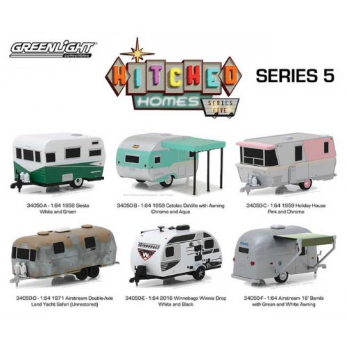 Greenlight Hitched Homes Series 5 - Six Trailer Set