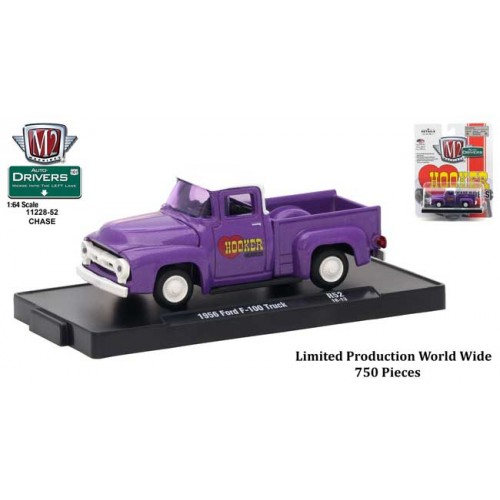 M2 Machines Drivers Release 52 - 1956 Ford F100 Truck Chase Version