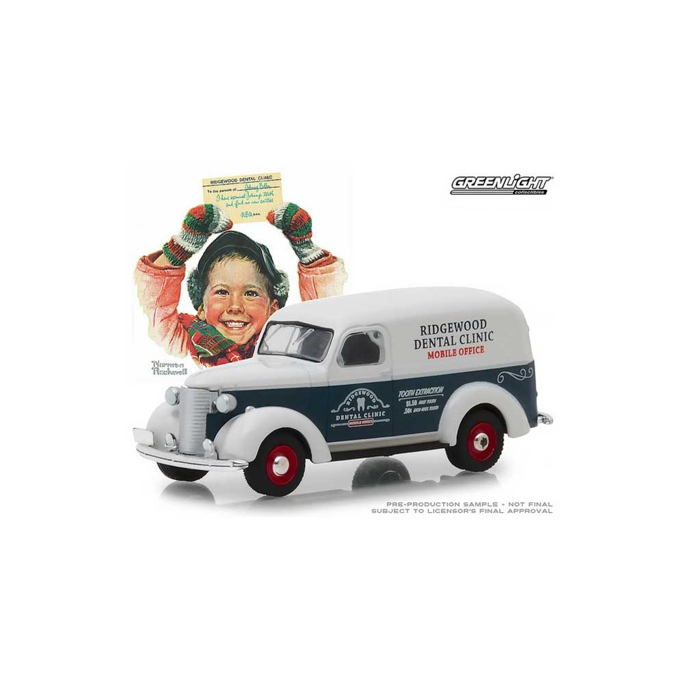 Greenlight Norman Rockwell Delivery Vehicles Series 1 - 1939 Chevy Panel Truck