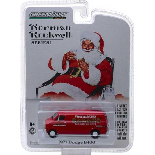 Greenlight Norman Rockwell Delivery Vehicles Series 1 - 1977 Dodge B-100 Van
