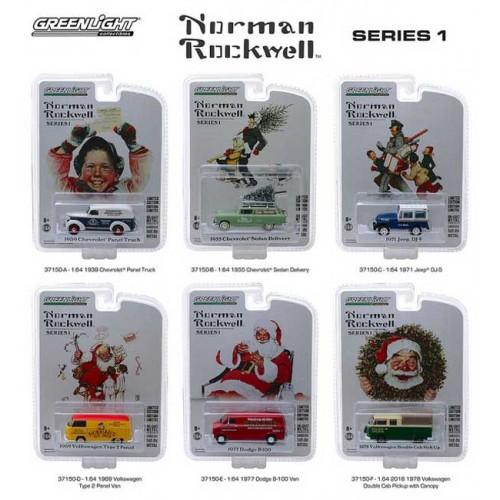 Greenlight Norman Rockwell Delivery Vehicles Series 1 - Six Car Set