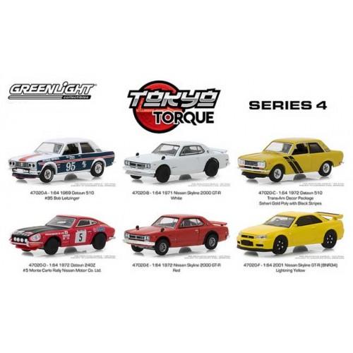 Greenlight Tokyo Torque Series 4 - Six Car Set