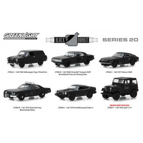 Greenlight Black Bandit Series 20 - Six Car Set