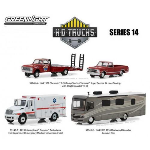 Greenligh HD Trucks Series 14 - Thee Truck Set