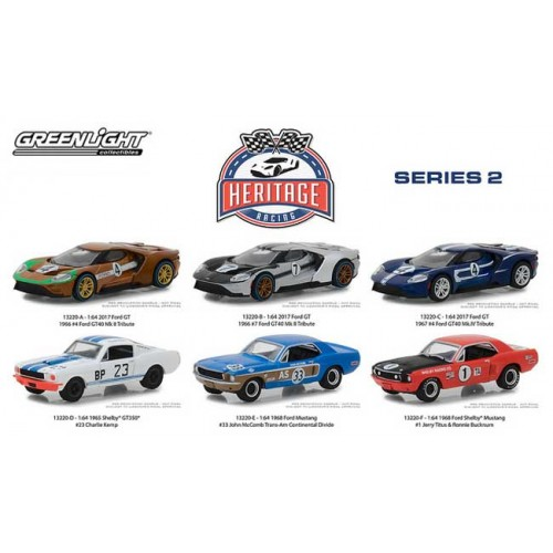 Greenlight Ford Racing Heritage Series 2 - Six Car Set