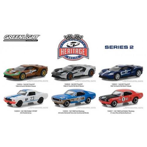 Greenlight Ford Racing Heritage Series 2 - Six Car Set
