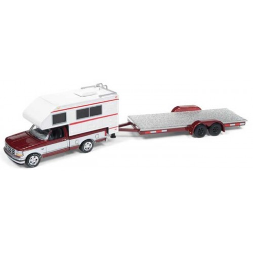 Johnny Lightning Truck and Trailer 1993 Ford F-150 with Open Trailer