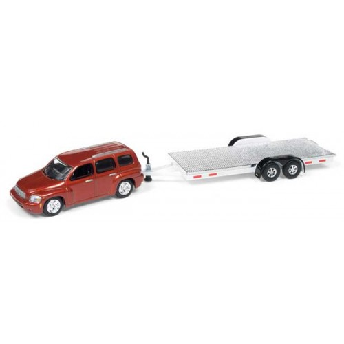 Johnny Lightning Truck and Trailer 2006 Chevy HHR with Open Trailer