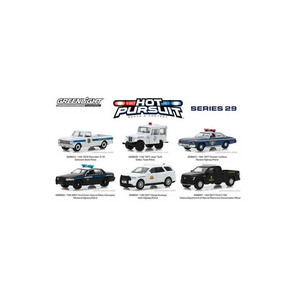 Greenlight Hot Pursuit Series 29 -  Six Car Set