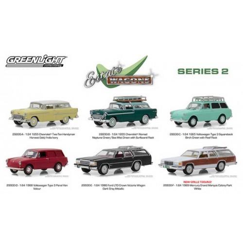 Greenlight Estate Wagons Series 2 - Six Car Set
