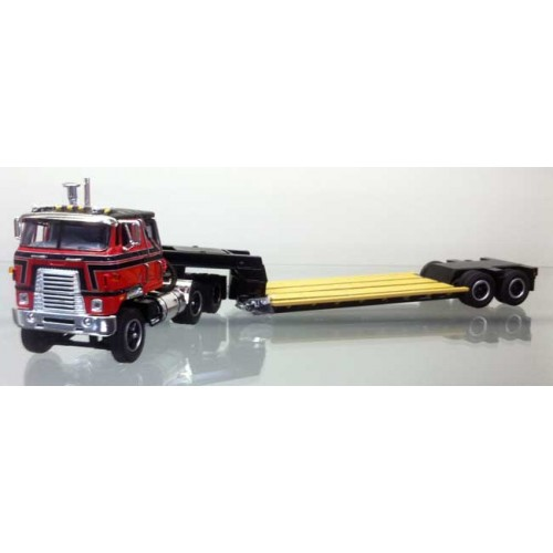 DCP International Transtar with Roger Lowboy Trailer Red and Black