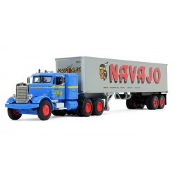 First Gear Peterbilt 351 with Vintage Trailer Navajo Freight Lines