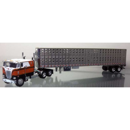 DCP Peterbilt 352 COE with Wilson PSAL Livestock Hog Trailer