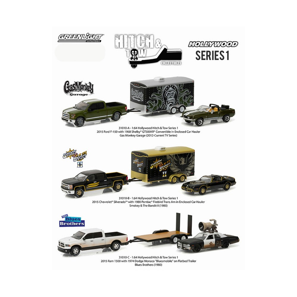 GAS MONKEY GARAGE 2014 RAM 1500 /& ENCLOSED CAR HAULER Hitch /& Tow Series 5 2015 Greenlight Collectibles Truck /& Trailer Limited Edition 1:64 Scale Die-Cast Vehicle Set