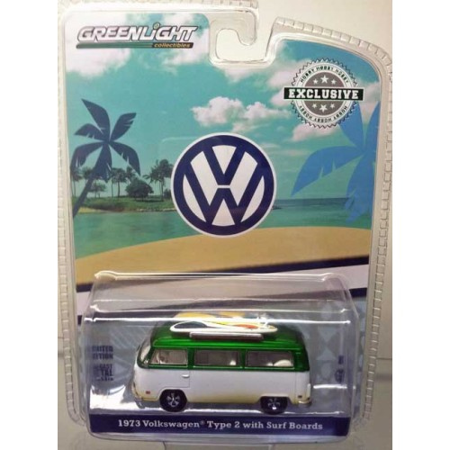 Greenlight Hobby Exclusive - 1973 Volkswagen Type 2 Green Machine