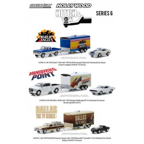 Greenlight Hollywood Hitch and Tow Series 6 - Set