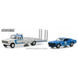 Greenlight HD Trucks Series 15 - 1969 Ford F350 Ramp Truck with 1969 Ford Mustang