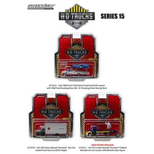 Greenlight HD Trucks Series 15 - Three Truck Set