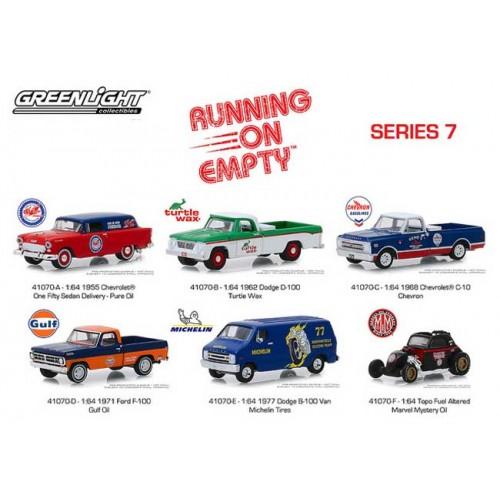 Greenlight Running on Empty Series 7 - Six Piece Set