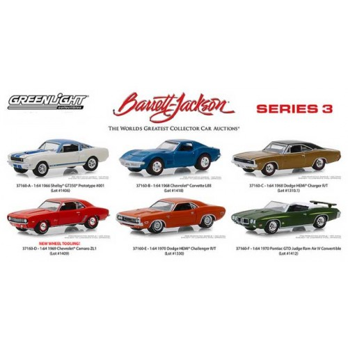 Greenlight Barrett-Jackson Series 3 - Six Car Set