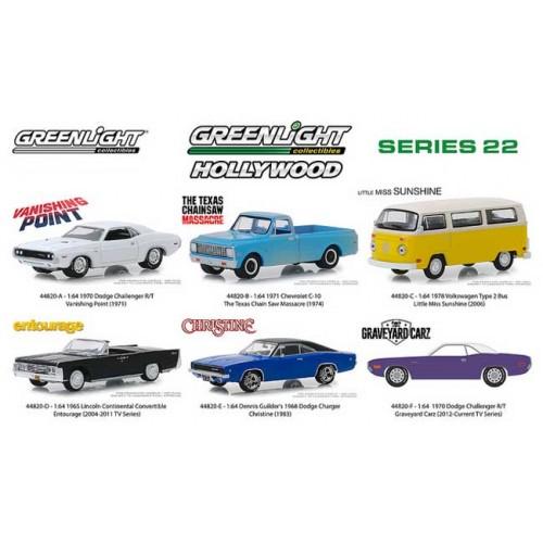 Greenlight Hollywood Series 22 - Six Car Set
