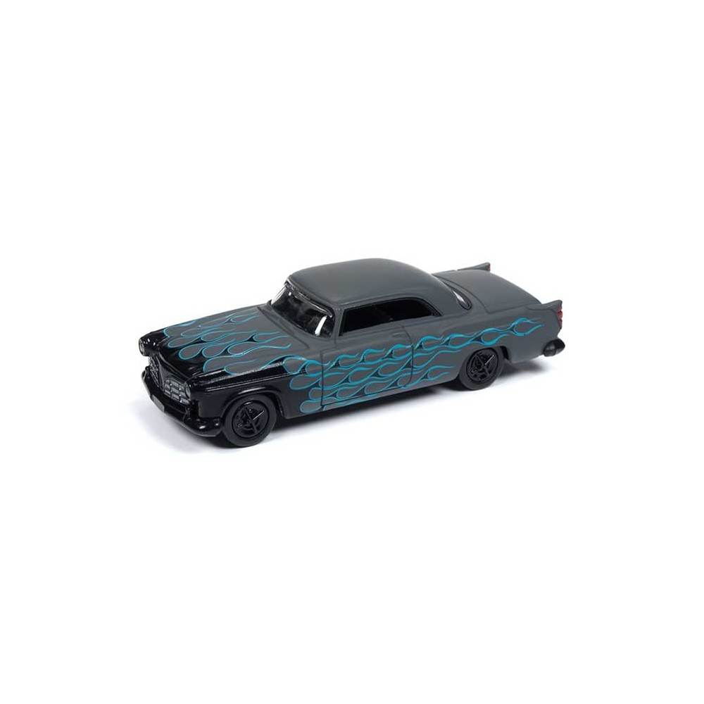 Johnny Lightning Street Freaks - 1955 Chrysler 300C Black with Flames