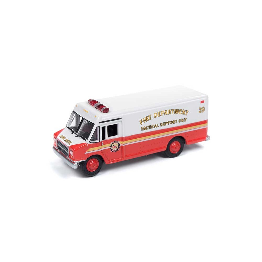 Johnny Lightning - 1990s GMC Step Van Delivery Truck Fire Departmet