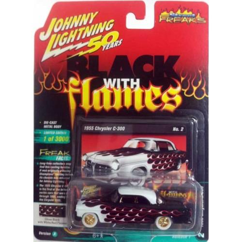 Johnny Lightning Street Freaks - 1955 Chrysler 300C White Lightning