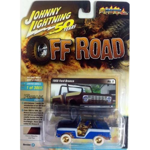 Johnny Lightning Street Freaks - 1968 Ford Bronco White Lightning