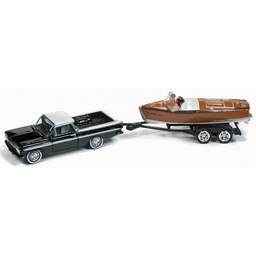 Johnny Lightning Hull and Haulers - 1959 El Camino with Boat