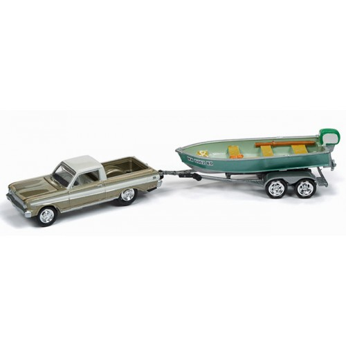 Johnny Lightning Hull and Haulers - 1965 Ford Ranchero with Boat