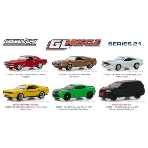 GL Muscle Series 21 - Six Car Set