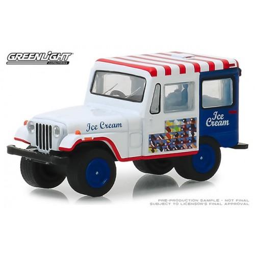 Greenlight Hobby Exclusive - 1975 Jeep DJ-5 Ice Cream Truck
