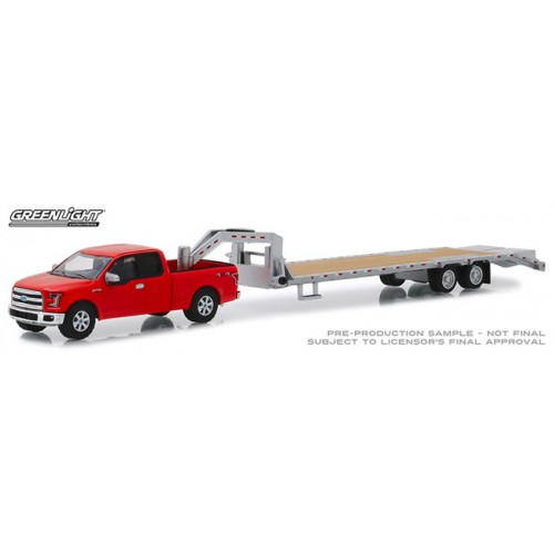 Greenlight Hobby Exclusive - 2017 Ford F-150 with Gooseneck Trailer