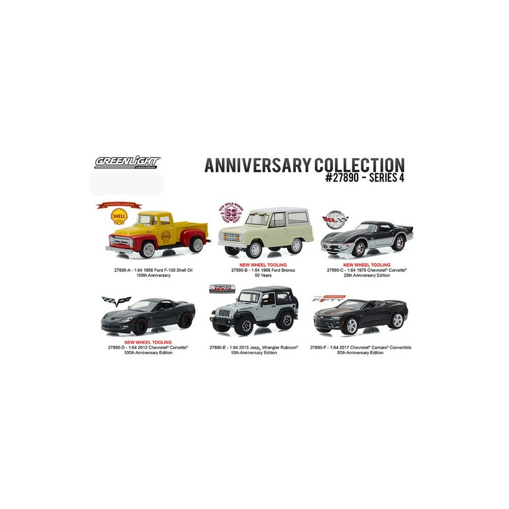 Anniversary Collection Series 4 - Six Car Set