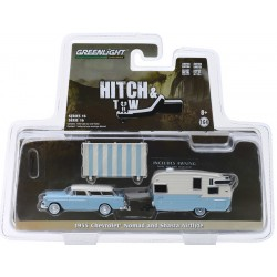 Greenlight Hitch and Tow Series 16 - 1955 Chevy Nomad with Shasta Airflyte