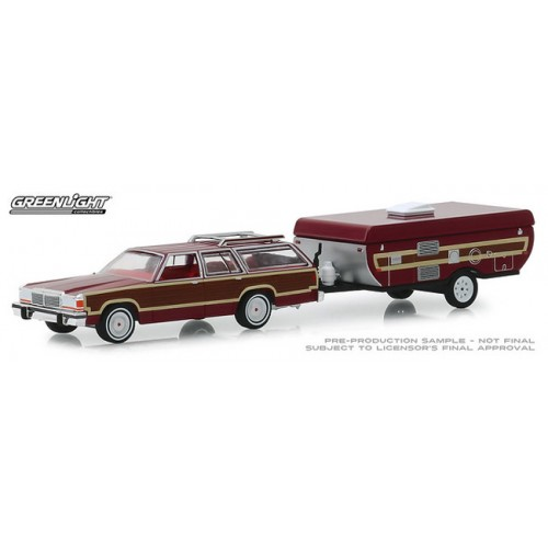 Greenlight Hitch and Tow Series 16 - 1981 Ford LTD Country Squire with Pop Up Camper